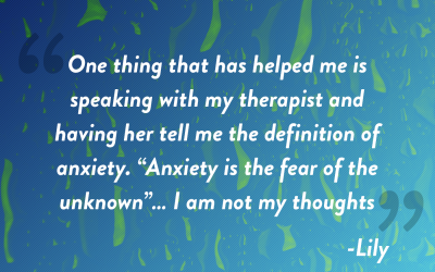Mental Health Awareness Month Interview Lily